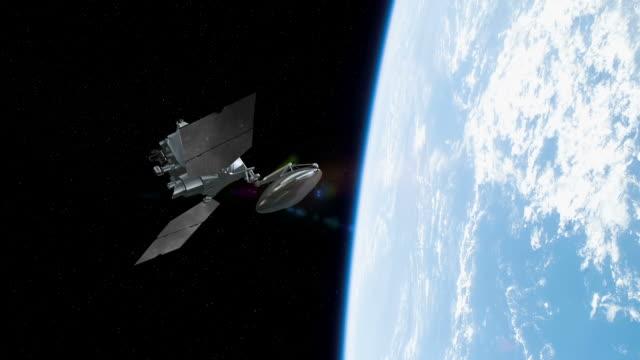 Communications Satellite Orbiting Earth - Cinematic video