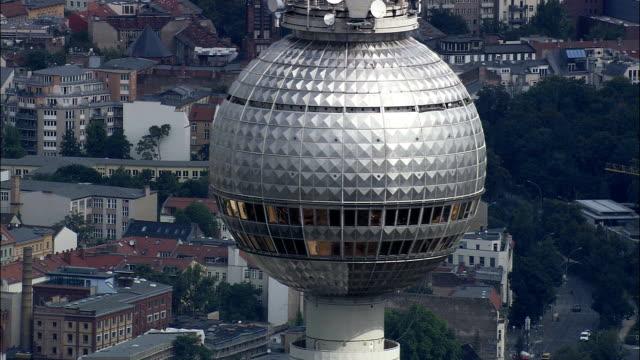 Communications Tower  - Aerial View - Berlin,  Berlin,  Stadt,  Germany video