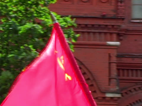 Communist Soviet USSR Flag at Rally / Protest (Moscow) video