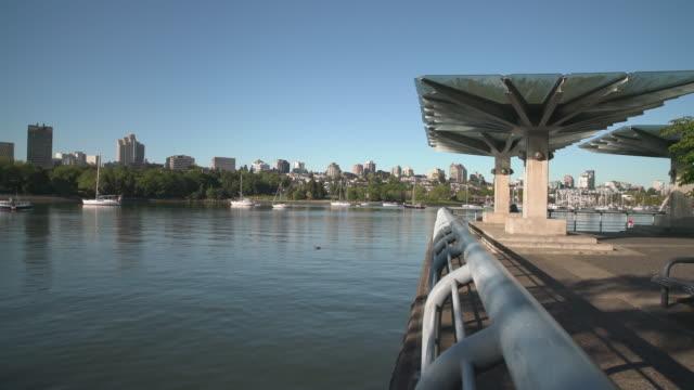 Commuter Ferry, False Creek, Vancouver 4K. UHD video