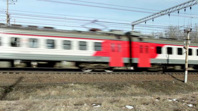 commuter train countryside - intercity filmów i materiałów b-roll