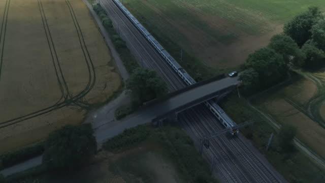 commuter train in the country - intercity filmów i materiałów b-roll