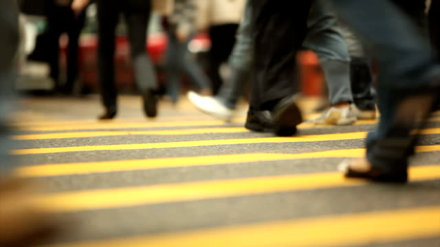Commuters on Crosswalk