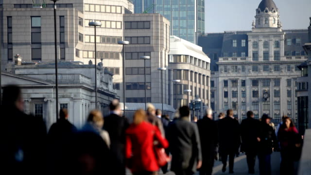 commuters: walking to work video