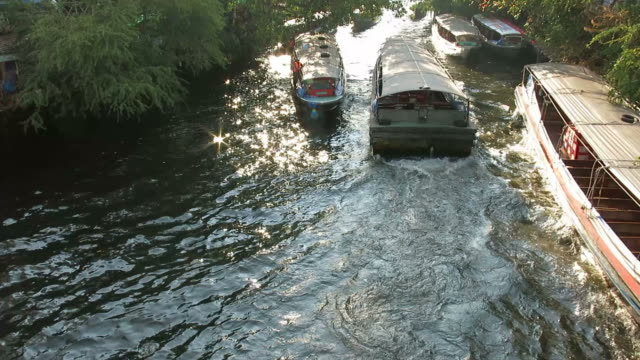 Commuting by boat in Bangkok video