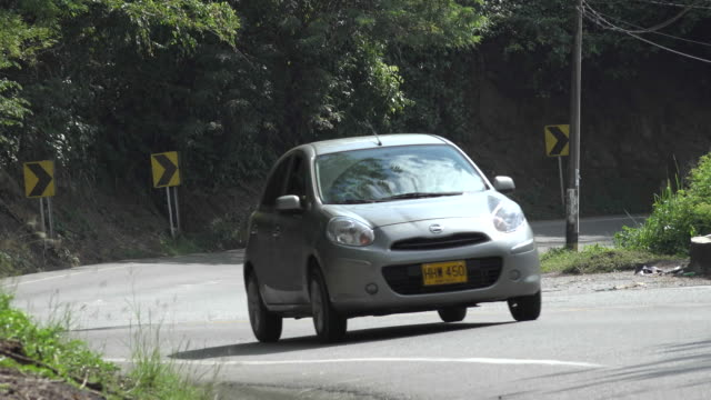 Compact Car on Curvy Road video