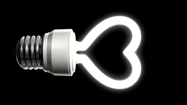 compact fluorescent lightbulb - recycling heart bildbanksvideor och videomaterial från bakom kulisserna