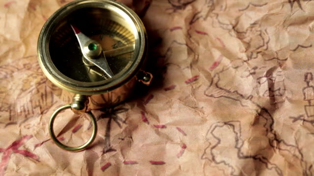 Compass And Treasure Map video