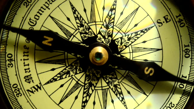 Compass close up Compass close up. navigational compass stock videos & royalty-free footage