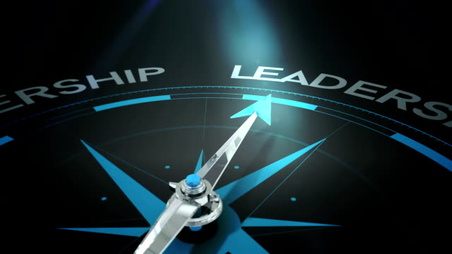 Compass pointing to leadership Digital animation of Compass pointing to leadership navigational compass stock videos & royalty-free footage