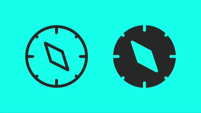 Compass - Vector Animate Compass Vector Animate 4K on Green Screen. navigational compass stock videos & royalty-free footage