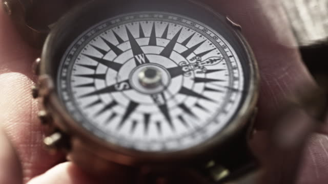 Compass Shot on RED Epic navigational compass stock videos & royalty-free footage