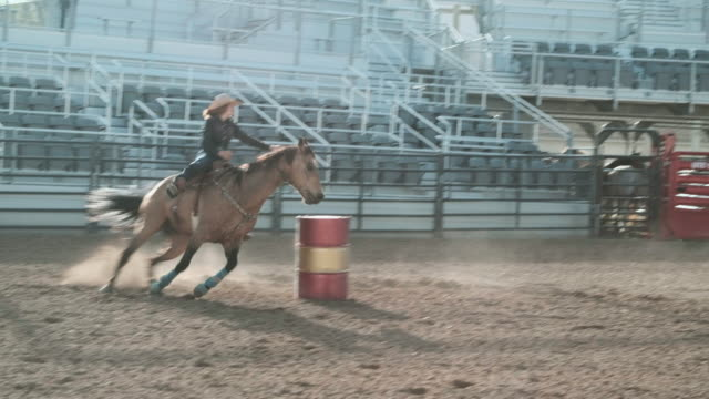 competition rodeo barrel racing - rodeo stock videos and b-roll footage