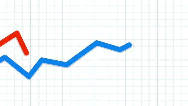 competitive blue and red graphs - böjd bildbanksvideor och videomaterial från bakom kulisserna