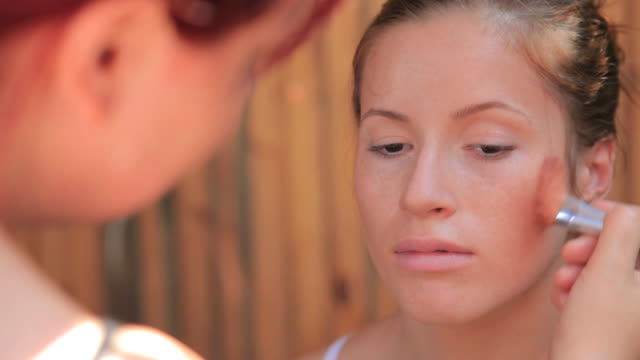 CLIP Complete make-up of young woman video