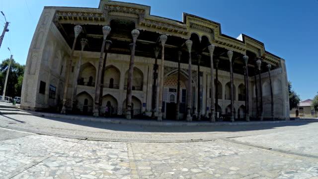 複雜的博洛豪-組成的清真寺宣禮塔,烏茲別克斯坦布哈拉 - 亞洲中部 個影片檔及 b 捲影像