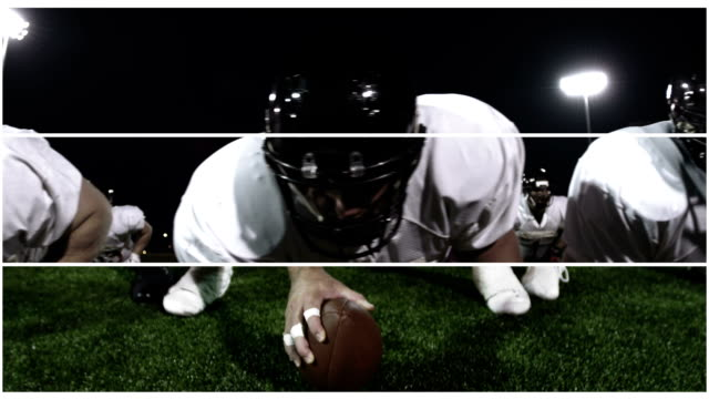 Composite of different football clips -Uberstock- HD 1080p-  This clip runs together a variety of different football clips.  Medium shot. multiple image stock videos & royalty-free footage