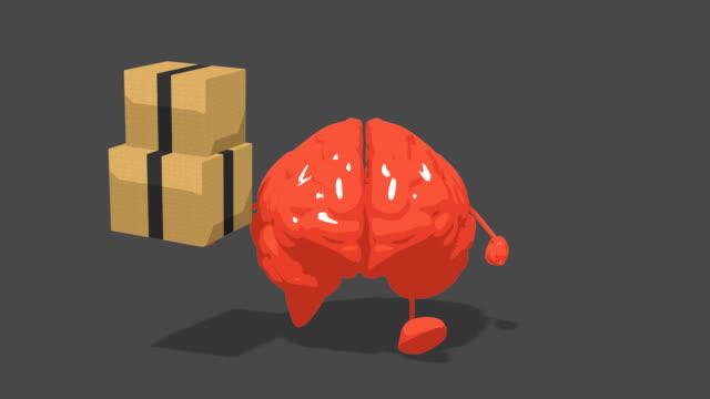 Computer animation - Fun brain Computer animation - Fun brain philosophy stock videos & royalty-free footage