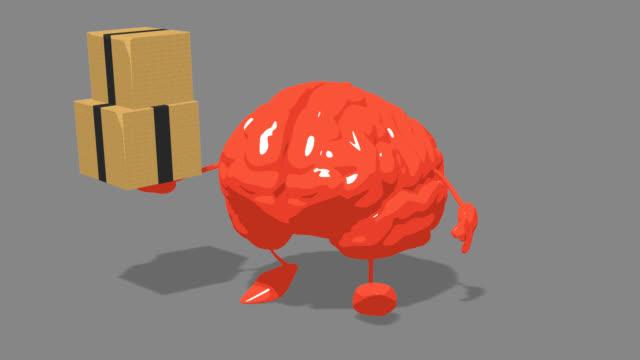 コンピュータアニメーション - 楽しい脳 - 人の筋肉点の映像素材/bロール