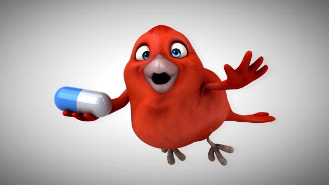 vídeos de stock, filmes e b-roll de animação por computador - pássaro vermelho - clip art