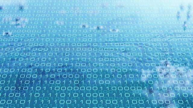 computer chip algorithm, new technology intro background - apprendimento automatico video stock e b–roll