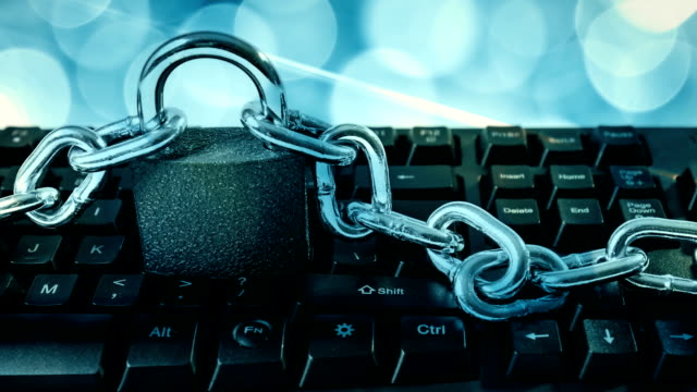 Computer cyberattack metaphor video