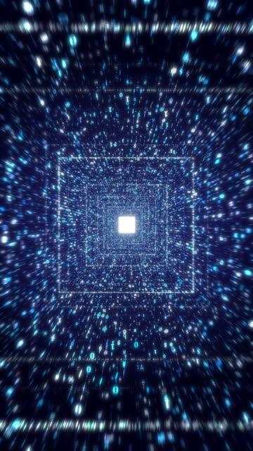 computer digitaler datencode-stream-tunnel - blockchain stock-videos und b-roll-filmmaterial