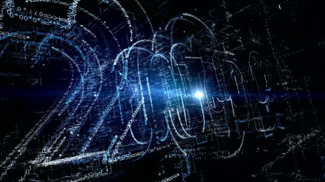 コンピューター生成 3 D: 熱烈なテキスト数と粒子アニメーションの挨拶新年 2019年 ビデオ