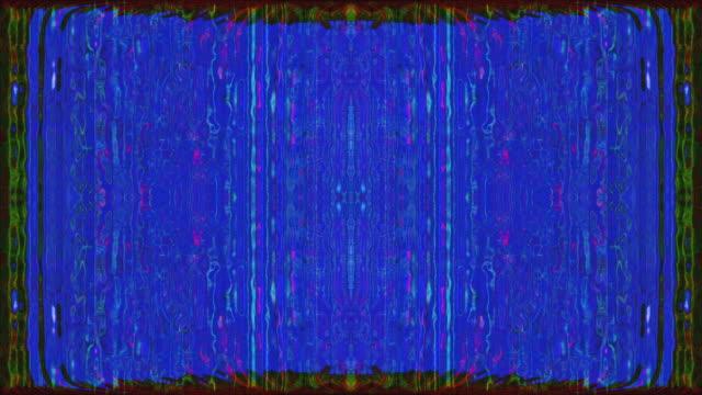 bilgisayar oluşturulan soyut klip, gökkuşağı veri çökme etkisi - bling bling stok videoları ve detay görüntü çekimi