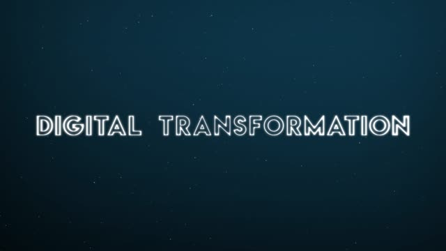 Computer generated, Digital Transformation technology animation