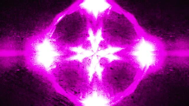 Computer generated kaleidoscopic grunge background of twinkling purple lights, 3d render