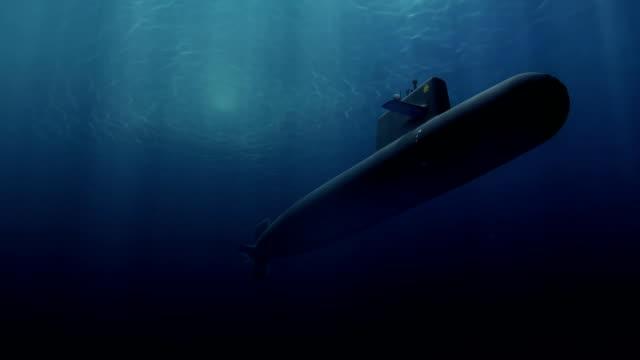 vídeos y material grabado en eventos de stock de equipo generado patrullaje submarino - submarino debajo del agua