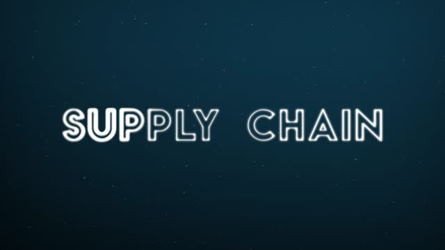 Computer generated, Supply Chain technology animation Computer generated, Supply Chain technology animation. goal post stock videos & royalty-free footage