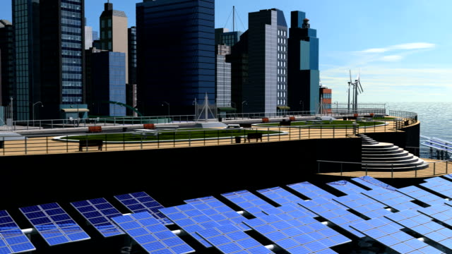 Computer Graphic of Futuristic City video