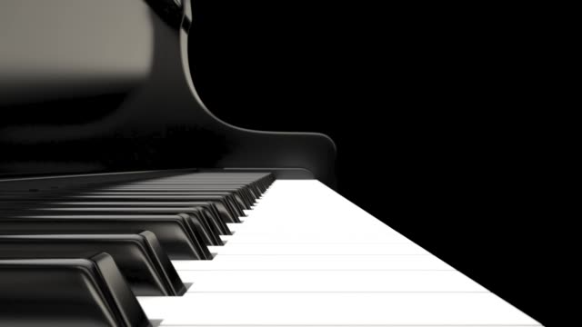 Computer graphics 3d rendering. Black grand piano 3d render Computer graphics 3d rendering. Black grand piano 3d render classical concert stock videos & royalty-free footage