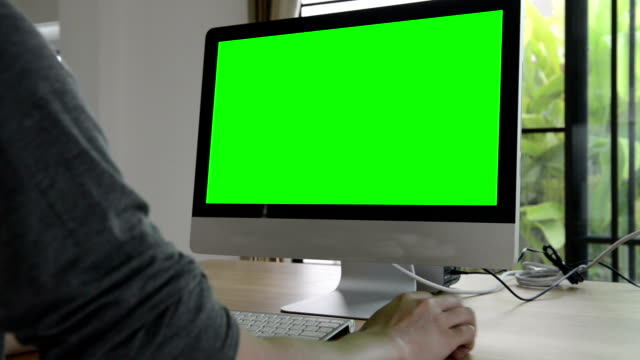 Computer green screen (HD) video