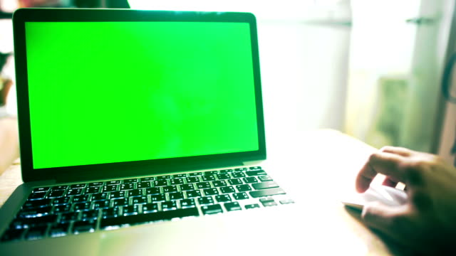 computer green screen video