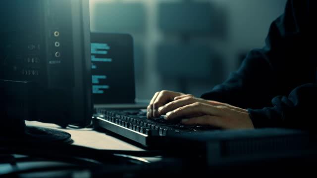 Video Computer Hacker Late Night Server Room