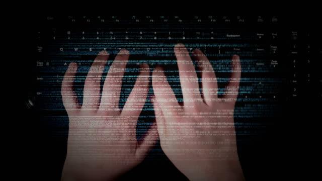 vidéos et rushes de pirate informatique - taper à la machine