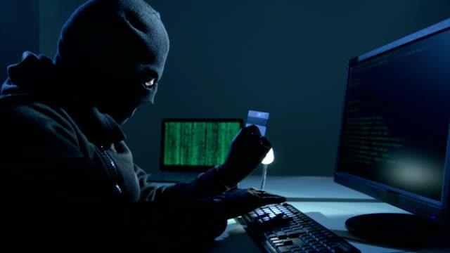 Computer hacker video