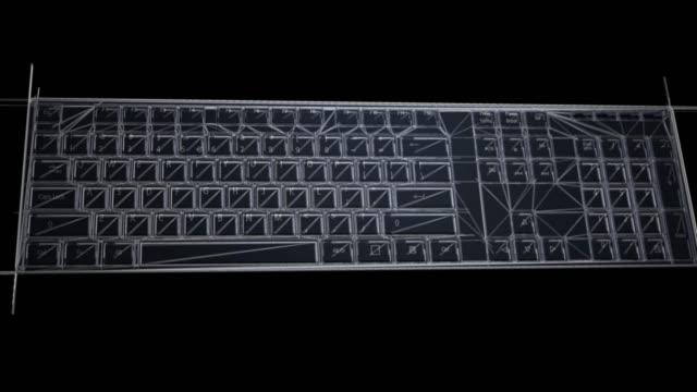 Datortangentbord design animation. video