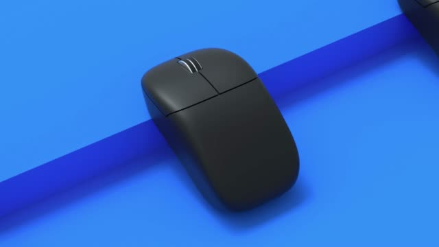 computer mouse 3d rendering motion abstract video
