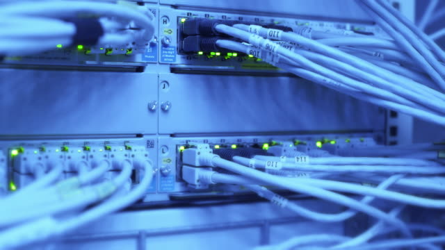 Computer Network Server Operating Rack Focus video
