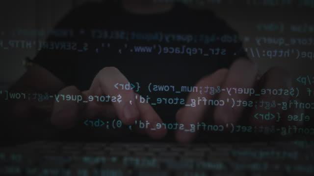 電腦程式設計代碼 - hacker 個影片檔及 b 捲影像