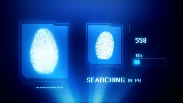 Computer screen simulation - FINGERPRINT SCAN video
