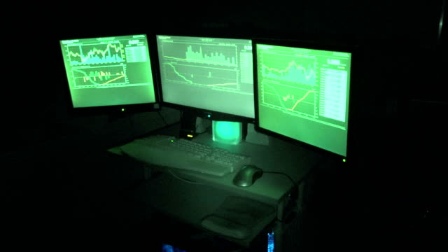 3 Computer Screens Owned By Hacker video