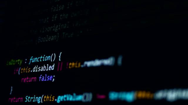 computer virus concept. hacker typing code on computer screen. 4k. - spyware filmów i materiałów b-roll