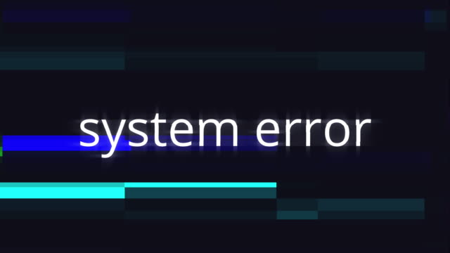 computer warning of system error in a graphic concept - errore video stock e b–roll