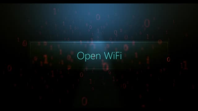 computerized digital text in software landscape - open wifi text - joseph kelly stock videos and b-roll footage