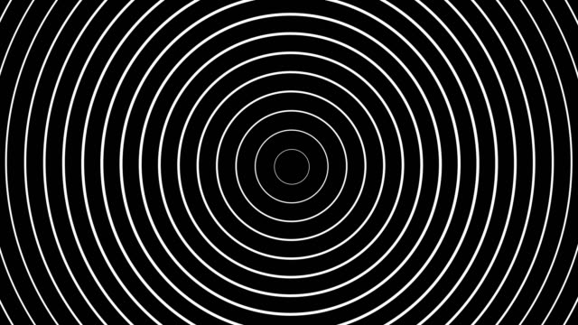 concentric white rings moving on black background - рябь стоковые видео и кадры b-roll
